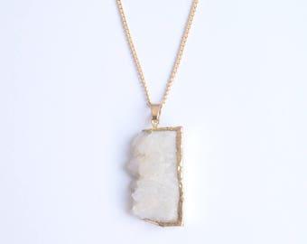 Necklace White geoda