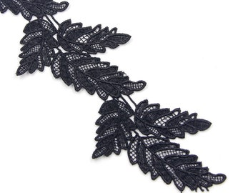 Leaves lace trim,macrame lace trim,white trim lace,Wedding Dress Sewing,attire lace trim-1\yard