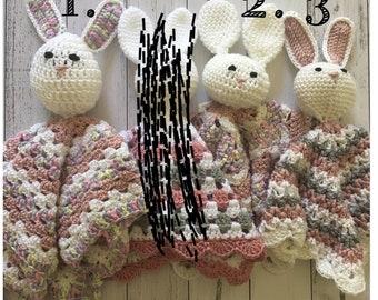 Crochet cuddle bunny blankets