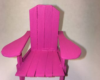 Mini Adirondack Lawn/Garden Chair (Available in 10 colors) 1/12 Scale