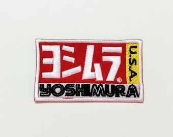 Yoshimura USA Muffler Motorcycle Racing Biker Embroidered Sew Iron On patch
