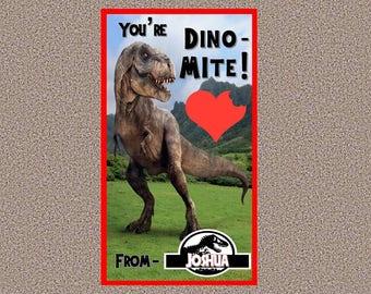 Jurassic World Valentine's Day Cards