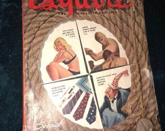 Vintage men's esquire magazine 1949