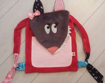 Bag little wolf with bow
