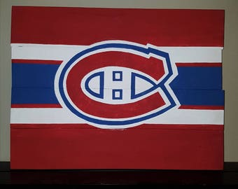 Montreal Canadiens wood sign