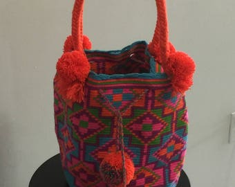 Neon Color Crossover Handbag