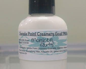 Monkey Farts Goat Milk Lotion 2 Oz