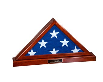 Memorial Size (5'x9.5') Flag Display Case with Base