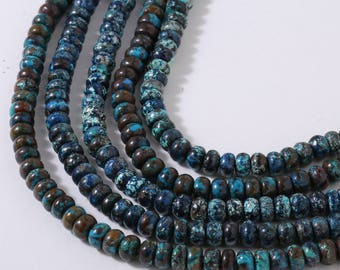 Chrysocolla Plain Rounds 30cm 6x3 mm Approx