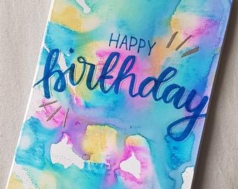 Watercolour Birthday Card