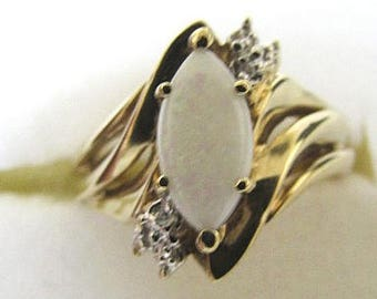 Opal Diamond, Ring 10K