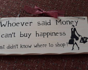 Quirky funny hanging plaque