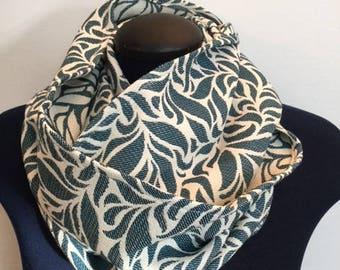 Infinity - garden fleece scarf