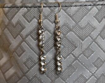Dangle rhinestone earrings