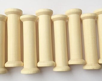 10 x 50mm Wooden Bobbins Spools