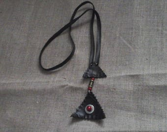Long necklace inner tube and bead