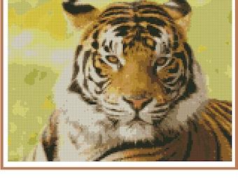 Cross stitch chart Tiger TG-005