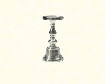 "Athena Candleholder 9.5"" - Silver"