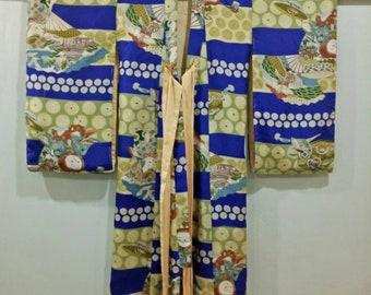 Vintage 1930's Kimono , Kid Kimono , Japanese Robe