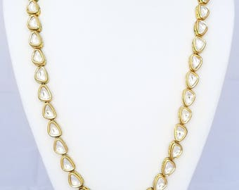 Triangle Stone Kundan Mala Necklace