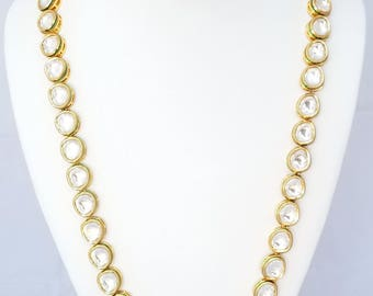 Round Stone Kundan Mala Necklace