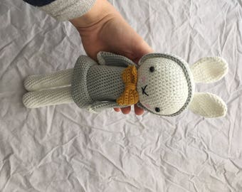 Crochet rabbit with dress and hat