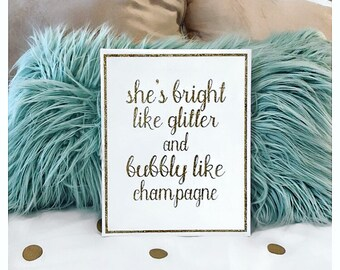 Glitter and Champagne Canvas