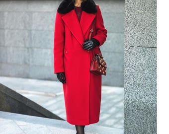 Cashmere coat autumn-winter