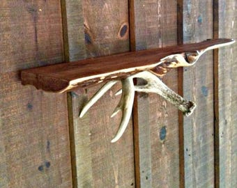 Whitetail Antler Shelf