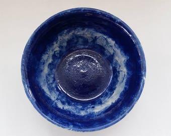 Handmade Wheelthrown Bowl Blue