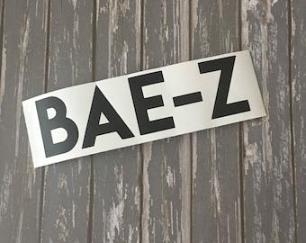 Bae-Z Matte Black Vinyl Decal