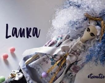 Handmade doll Laura - Textile Doll - Tilda style doll - Interior doll - Poupée en tissu - Poupée création - Poupée d'intérieur