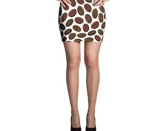 Coffee Beans Mini Skirt