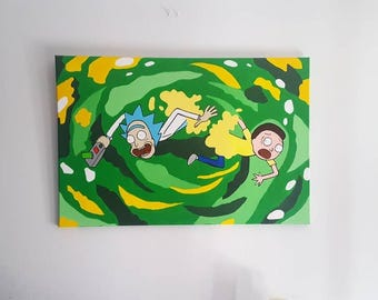 Rick and Morty Canvas painting