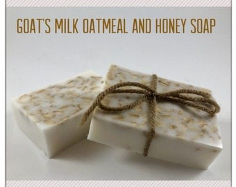 Natural Goat's Milk Oatmeal and Honey Soap