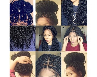 Faux loc wig 360 bleached knots and plucked baby hair