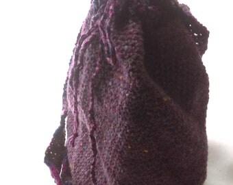 Purple Drawstring Shoulder Bag