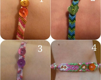 Knotted cotton bracelets