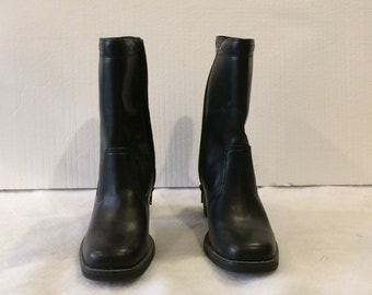 Clark's Black Leather Boots