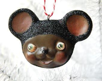 Black Mouse Ornament
