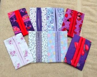 Purple Kleenex Holders with Tissues