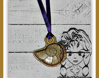 SHeLL MeRMAID VOiCE PENDaNT NECKLaCE, Holidays Halloween Christmas Birthdays - INSTANT Download Machine Embroidery Design by Carrie
