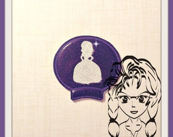 1st PRiNCESS Silhouette Ear (Add On~1 Pc) Mr Ms Mouse Ears Headband ~ In the Hoop ~ Downloadable DiGiTaL Machine Embroidery Design by Carrie