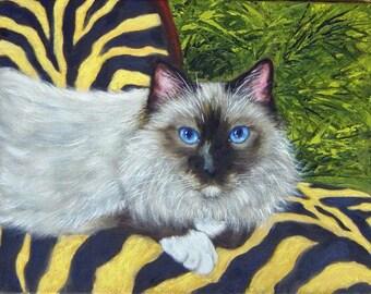 Custom 9x12 pet portrait oil painting of YOUR pet