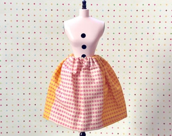 Seeing Dots Simple Swing Skirt for Blythe