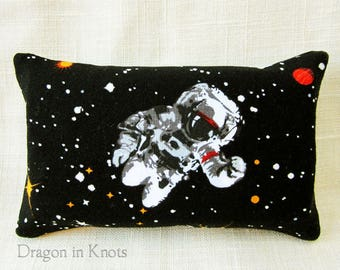 Outer Space Pocket Tissue Holder - Astronaut, Star Constellations, or Greetings from Mars, black glow-in-the-dark to-go facial tissue pouch
