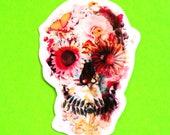 Flower Anatomical Heart Skull Skeleton Romantic Anatomy Pretty Horror Colourful Waterproof Vinyl Sticker - More Styles