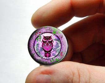 Retro Glass Owl Cabochon for Jewelry and Pendant Making - Design O7