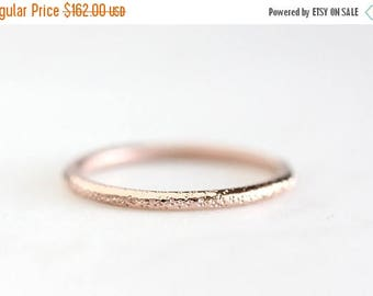 ON SALE stardust 14k rose gold wedding ring, solid recycled gold band, eco friendly, rose gold, white gold, wedding ring, recycled wedding r