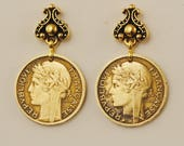 French Coin Earrings 1939 and 1941